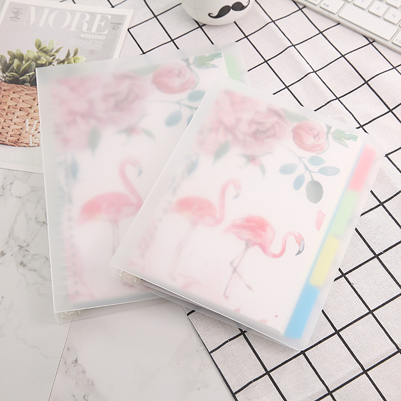 Harphia 2018-2019 Smart Reusable Binder A5 B5 Flamingo Notebook Cat Notepad Diary Planner with Colorful Divider Organizer harphia 2018 2019 smart reusable binder a5 b5 flamingo notebook cat notepad diary planner with colorful divider organizer