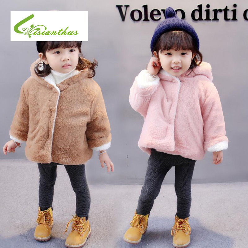 30d6f5e28172 Newborn Baby Girls Clothes Winter Jackets Warm Faux Fur Fleece Coat ...