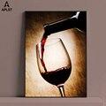 Красное вино Стекло картина маслом печать плакатов современный на холсте Бар Ресторан украшение кухонной стены обеденный Декор в гостиную