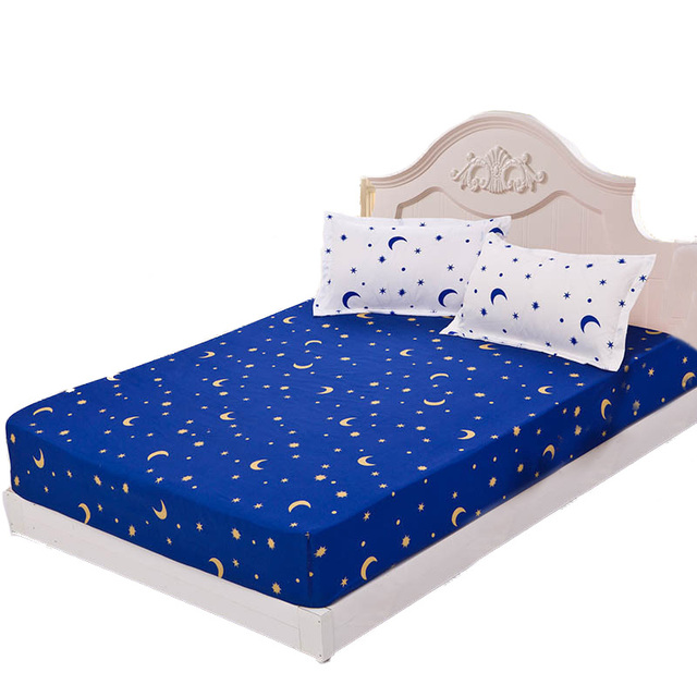 Polyester Anti Slip Bed Sheet With Elastic Cheap Printed Bedsheet For  Student Sheets Double Mattress