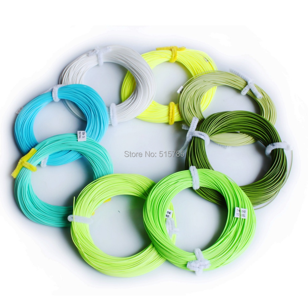 Andux Fly Fishing Line Floating Fly Line Wight Forward Trout line 100FT Rondom color F/Z-WF