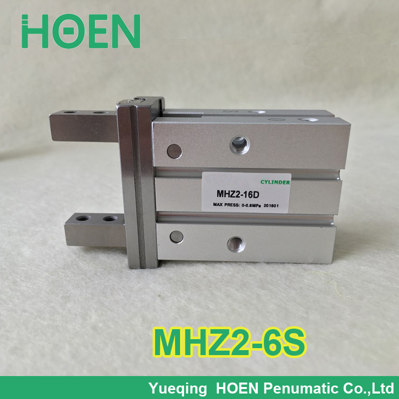 все цены на High quality Single acting normally open mini grippers pneumatic cylinder MHZ2-6S aluminium air clamps онлайн