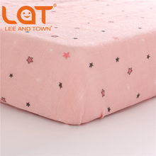 LAT 100% Cotton Crib Fitted Sheet Unicorn Soft Baby Bed Mattress Cover Protector Cartoon Newborn Bedding of Cot Size 130*70cm(China)