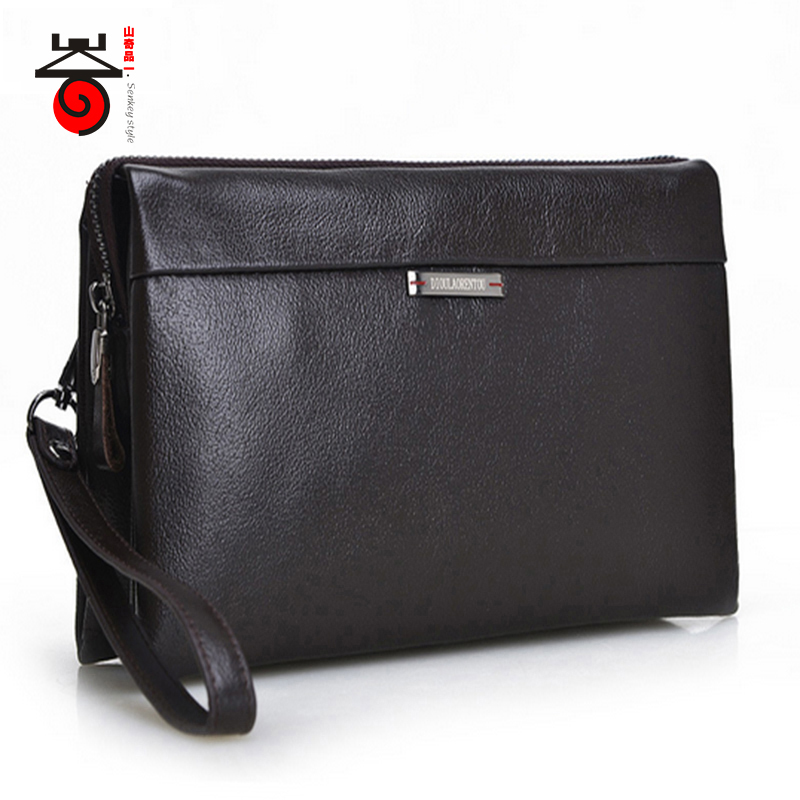 Senkey style Fashion Luxury designe high Male Leather wallets Men's genuine Leather Handbags new famous brand clutch bags Purse
