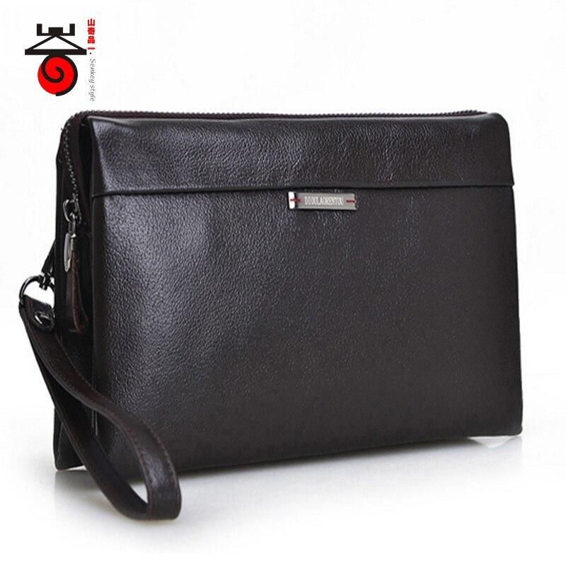 Senkey style Mode De Luxe designe haute Mâle En Cuir portefeuilles Hommes En Cuir véritable de Sacs À Main nouvelle célèbre marque d'embrayage sacs Bourse