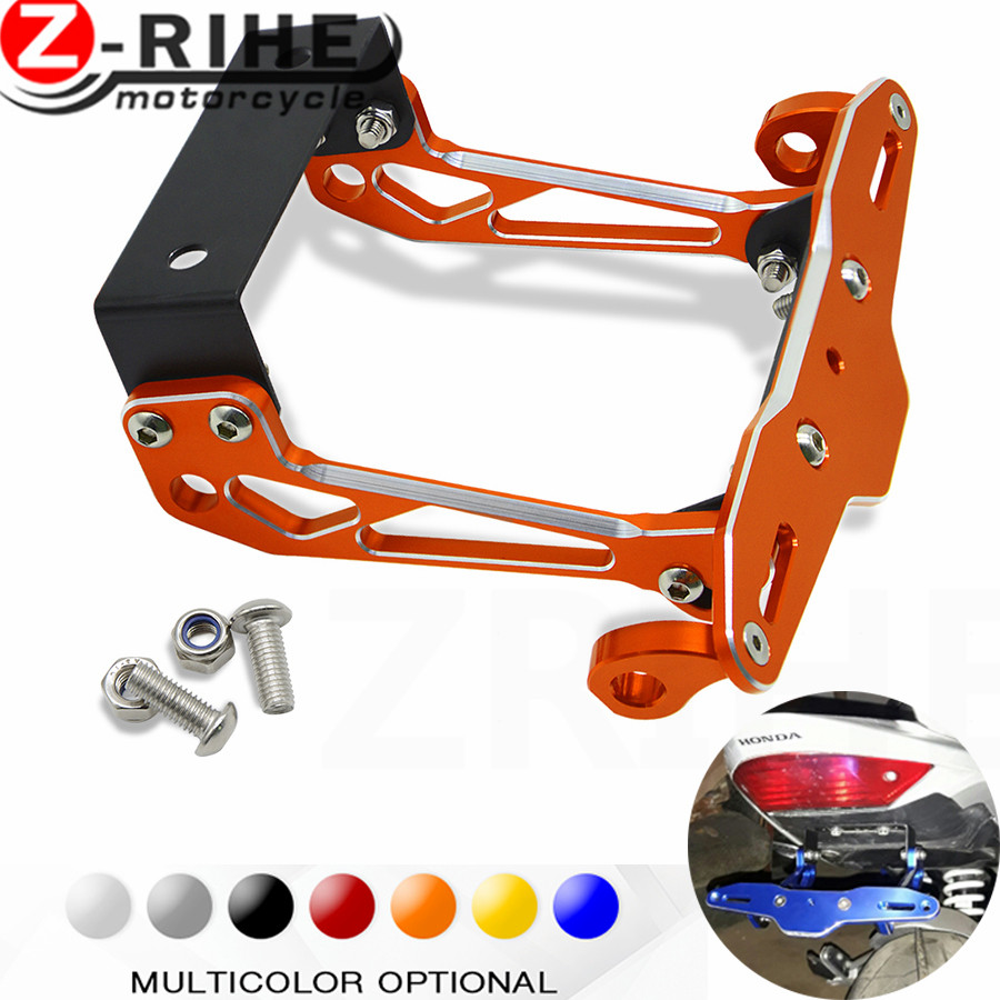 Fender Eliminator motorcycle License Plate Bracket Ho Tidy Tail Universal For Yamaha FZ6 FAZER FZ6R FZ8 FZ1 FAZER XJ6 DIVERSION for suzuki gsx r600 k6 motorcycle fender eliminator license plate bracket tail tidy tag rear for suzuki gsxr750 k6 2006 2007