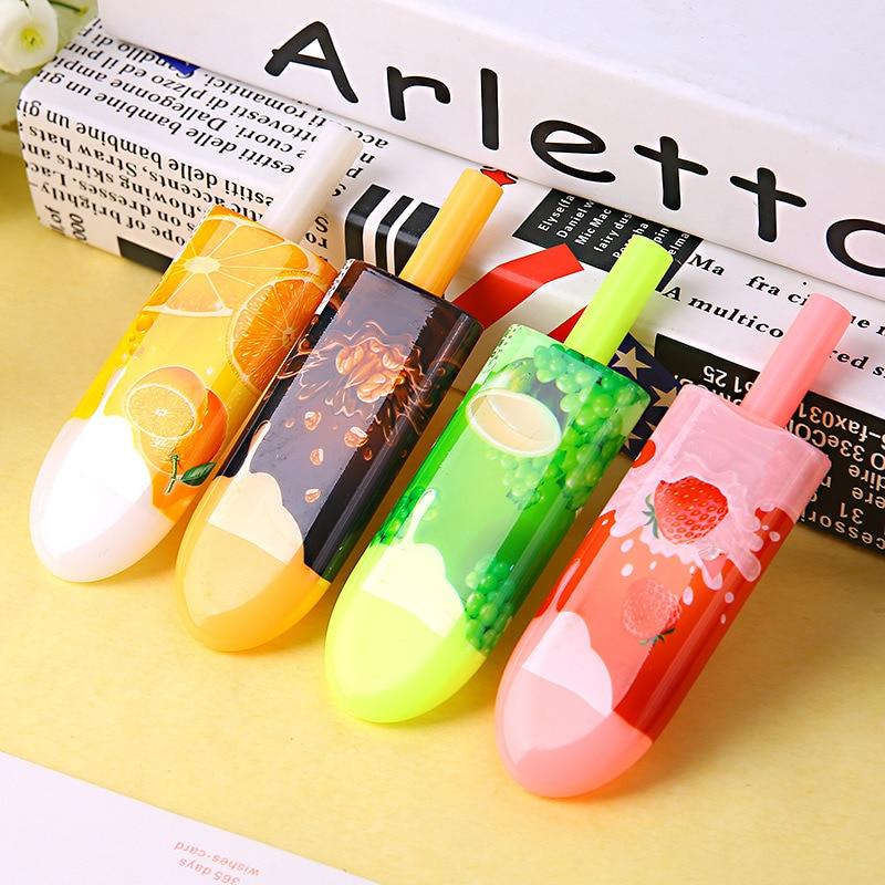 4Pcs Cartoon Creative Ice Cream Stick Gel Pen Stationery Store Cute Kawaii Popsicle Escritorio Ballpen School Material Item Shop