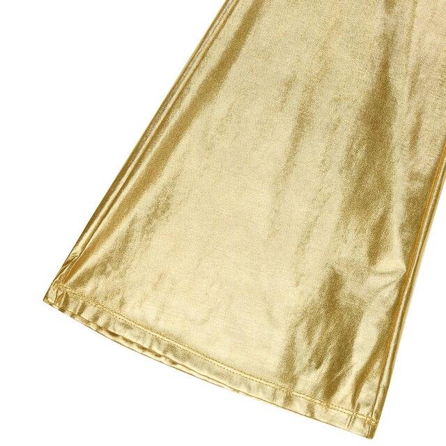 Men Pants Fashion Shiny Metallic Holographic Pants Club Wear Disco Leisure Long Pants Costume Casual Flared Bell Bottom Trousers 5