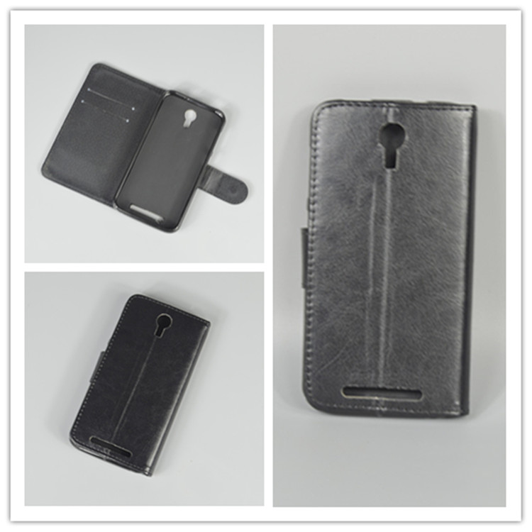 Crystal grain wallet case hold two Cards with 2 Card Holder and pouch slot For Doogee Y100 Pro Valencia 2 Valencia2