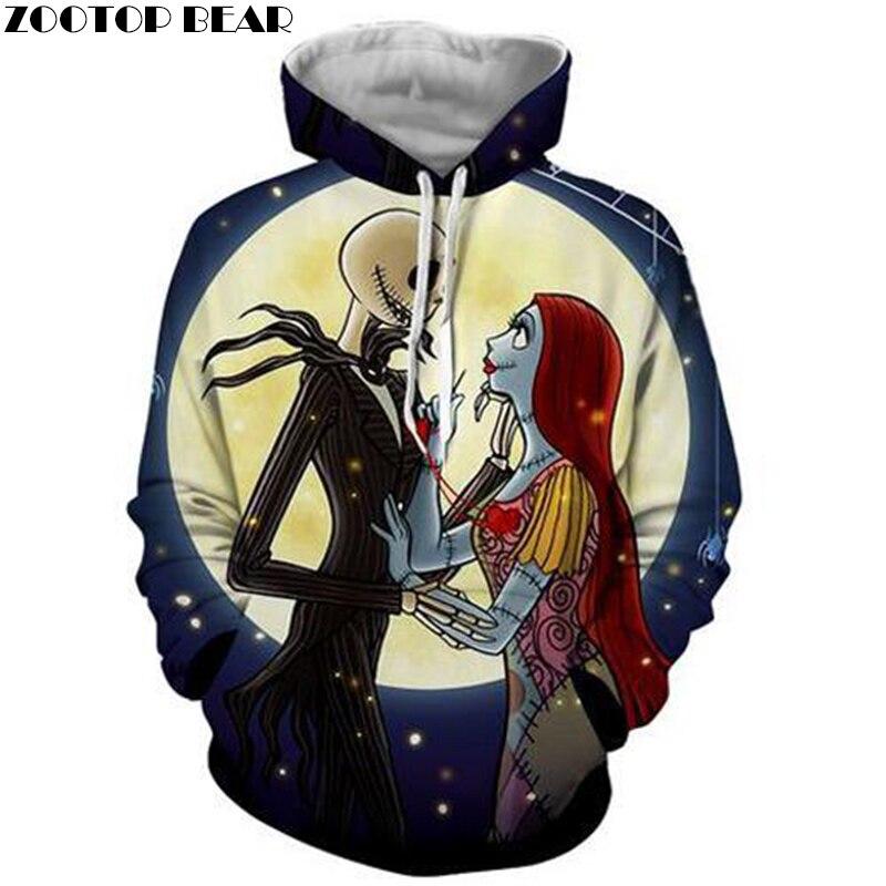 Jack and Emily 3d Hoodie Sweatshirts Men Hoodies Movie Coat Fashion Pullover Hooded Trackusit Casual Pocket Hoodie ZOOTOP BEAR