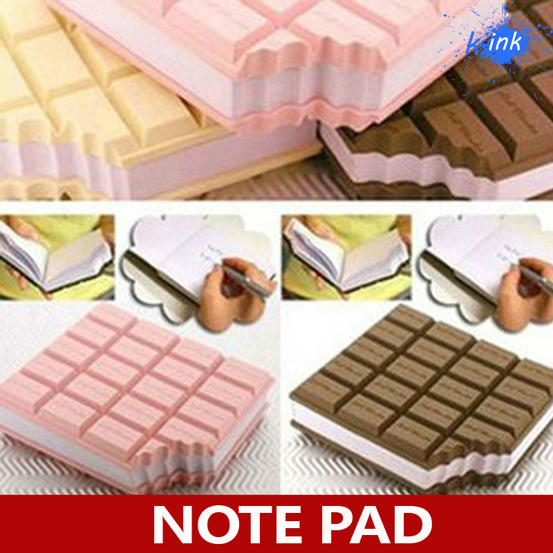 Chocolate Scented Flavor Shaped Notepad Message Pad Notebook Pocket Writing Book , chocolate memo pads