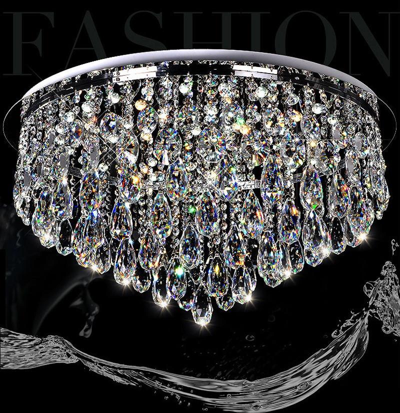 Design moderne Carr Rain Drop Lustre En Cristal Suspension Luminaire pour Salon Salle  Manger