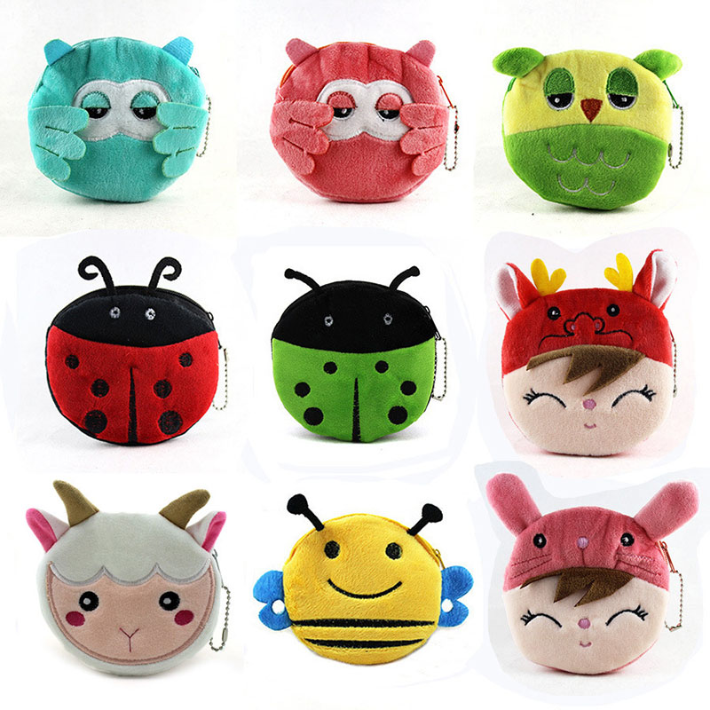 New Style Cartoon Owl B Girls Coin Purse Children Coin Bag Lady's Cute Mini Wallet Pouch Women Girl Makeup Buggy Bag For Gifts