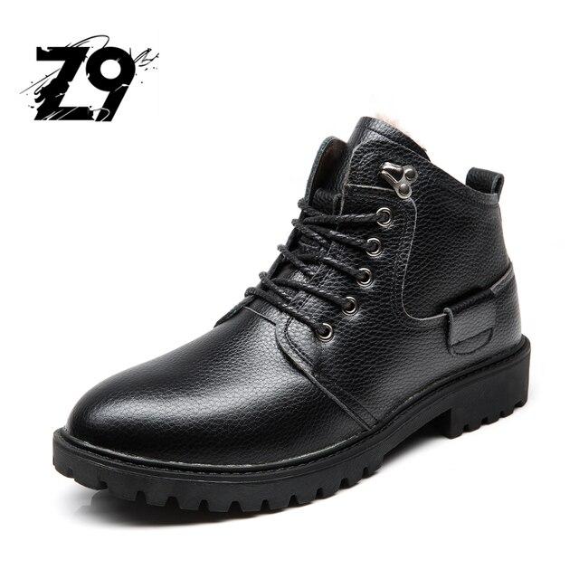 2016 сапоги мужчины повседневная лодыжки обувь квартиры Плюшевые Подкладка зима размер 39-46 натуральная кожа хорошего качества удобные Z9 5517