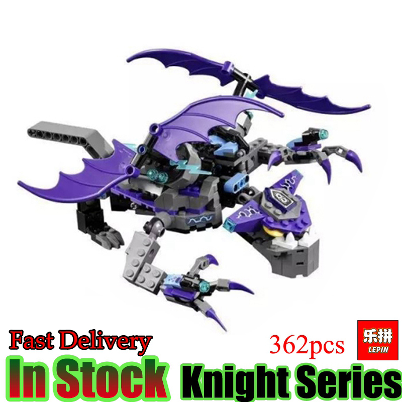 Lepin 14033 Nexoe 362pcs Stone Statue Rotorcraft Nexus Knights Set Model Building Blocks Bricks Toys for kids gifts in stock lepin 14036 785pcs nexoe the stone colossus of ultimate nexus destruction knights building blocks bricks toys for kids