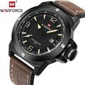 2017 top luxury brand naviforce hombres relojes deportivos militar reloj de cuarzo fecha reloj hombre reloj impermeable relogio masculino