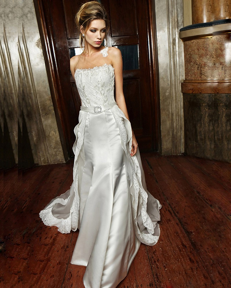 Bridal Dress With Detachable Train: 2016 New Arrive Luxury Detachable Train Mermaid Wedding