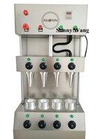2600w 4 piezas moldes máquina pizza cono de Pizza panadería máquina de cono de pizza máquina con horno de pizza máquina
