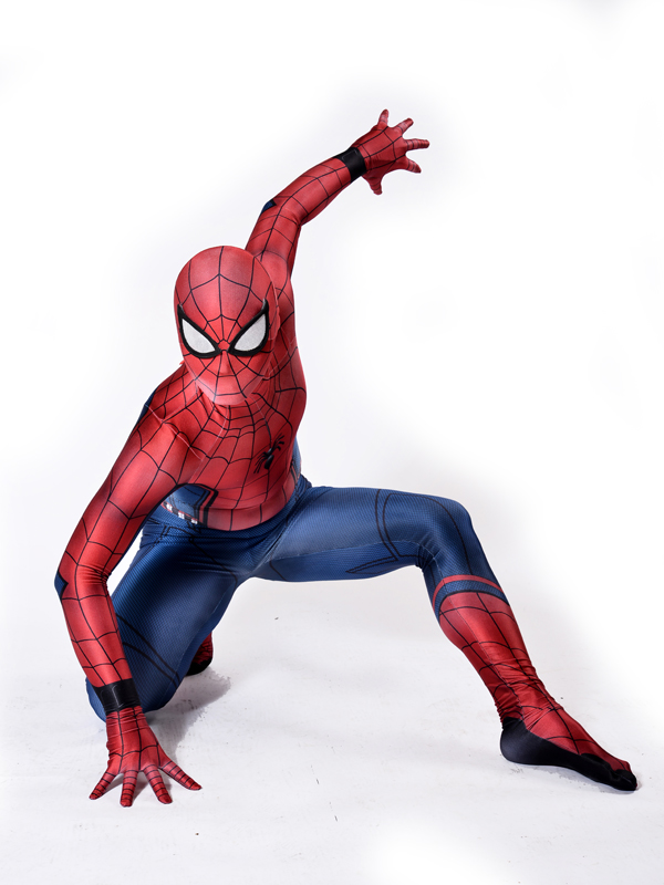 Homecoming Spiderman Costume 3D Printed Cosplay Zentai Suit Home coming Spider-Man Coser Costumes