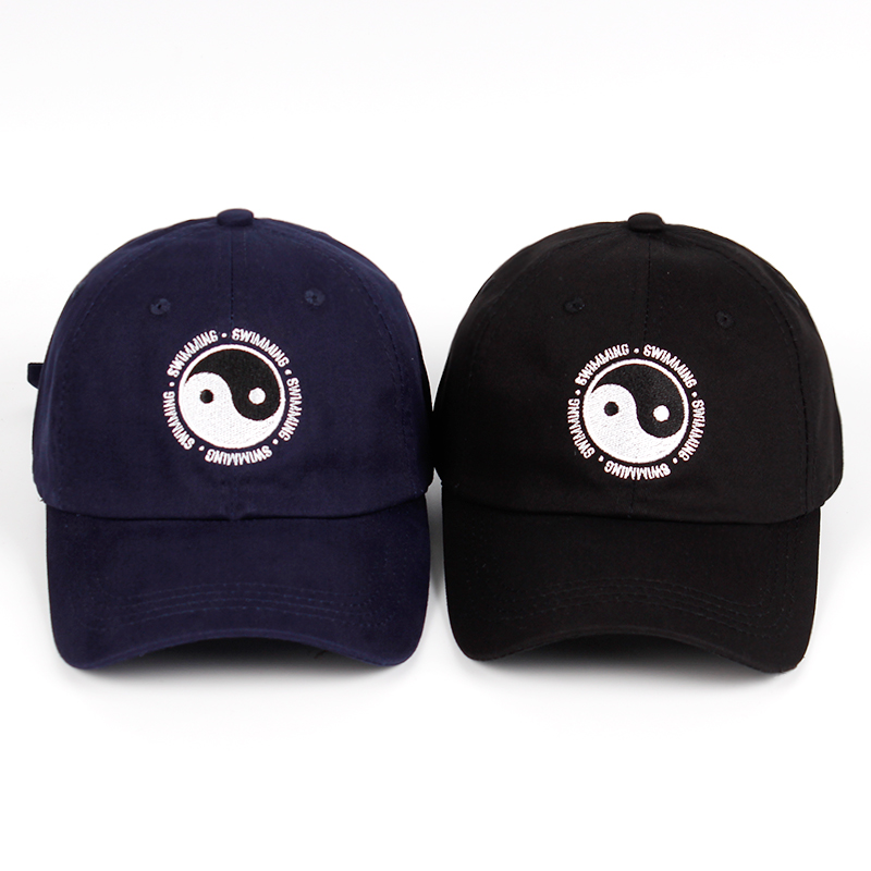 Mac Miller Dad Hat 100% Cotton Swimming Yin And Yang Gossip Embroidered Hat Snapback Baseball Cap For Men And Women Dropship