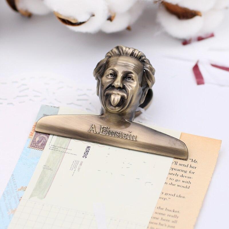 Vintage Einstein Bindemittel Clip Silber Rose Gold Retro Farbige Papier Clips Planer Dekorative Zubehör Schule & Büro Liefert