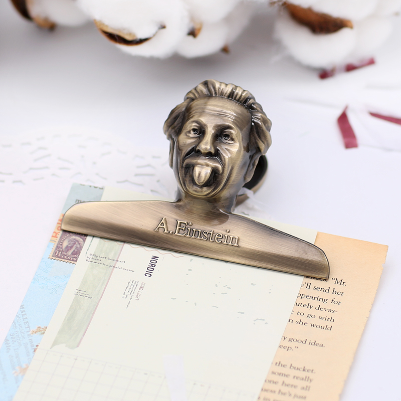 Vintage Einstein Binders Clip Silver Rose Gold Retro Colored Paper Clips Planner Decorative Accessories School & Office Supplies
