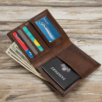 Mitao Factory Leather Passport Case Wallet with credit card slots casual style passport cover leather 6 color Free shipping