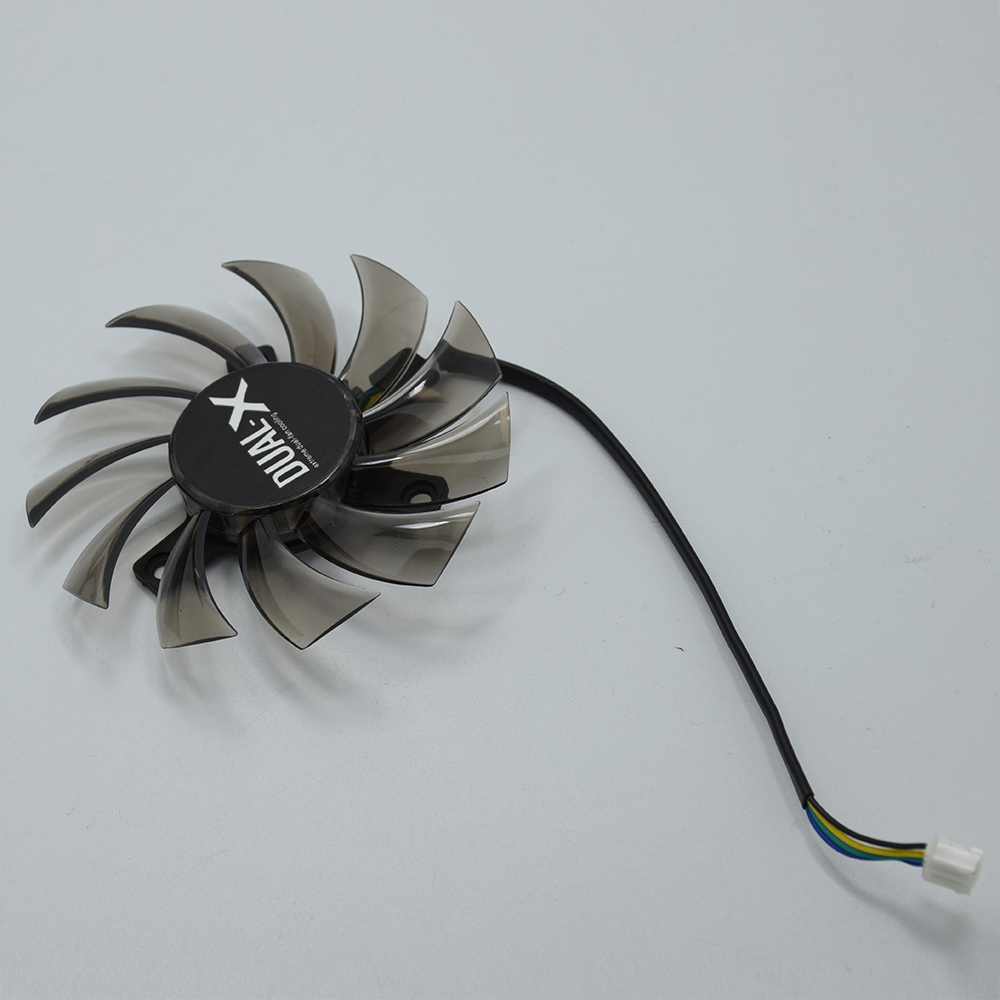 New 75mm FD7010H12S 4Pin DC 12V Cooler <font><b>Fan</b></font> Replacement For ASUS MSI Sapphire R6790 GTX750Ti <font><b>GTX760</b></font> GTX770 Video Card Cooing <font><b>Fans</b></font> image
