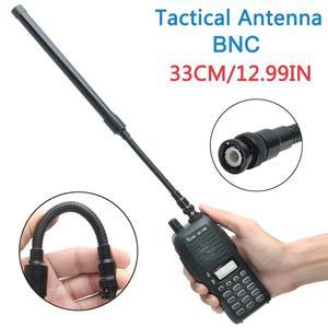 Image 2 - ABBREE AR 148 Schwanenhals BNC Taktische Antenne VHF UHF 144/430Mhz Faltbare für Kenwood TK308 TH28A Icom IC V80 Walkie talkie