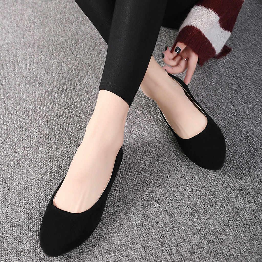 Femmes chaussures plates doux daim mocassins chaussures grande taille 35-43 femmes appartements sans lacet chaussures plates mocassins Faux daim chaussures de Ballet #20
