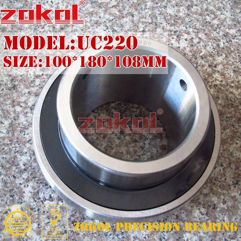 ZOKOL bearing UC220 90220 Pillow Block Ball Bearing 100*180*108mm zokol bearing uc209 suc209 90509 stainless steel pillow block ball bearing 45 85 49 2mm