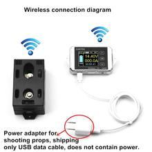 Dc 120 v 50a 100a 200a 300a amperímetro sem fio tensão coulmeter kwh watt bateria do carro medidor de capacidade de monitoramento energia tester