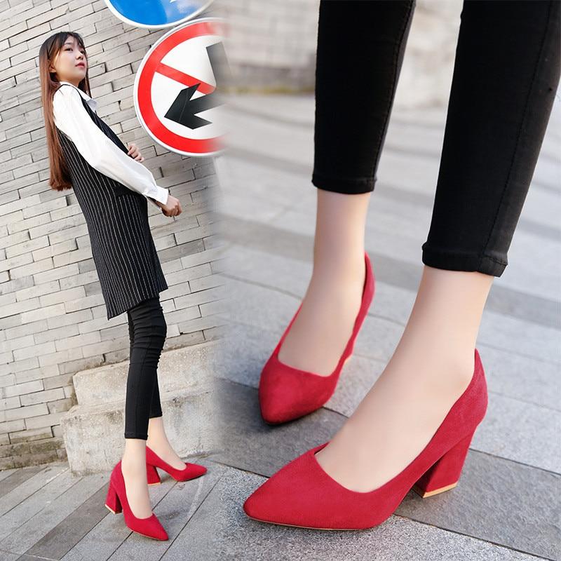 ade085cc ... Zapatos Sexy Mujeres Nude 558 Más Tamaño El Suede 8cm 558 Clásico  Bombas Mujer Nupcial Para ...