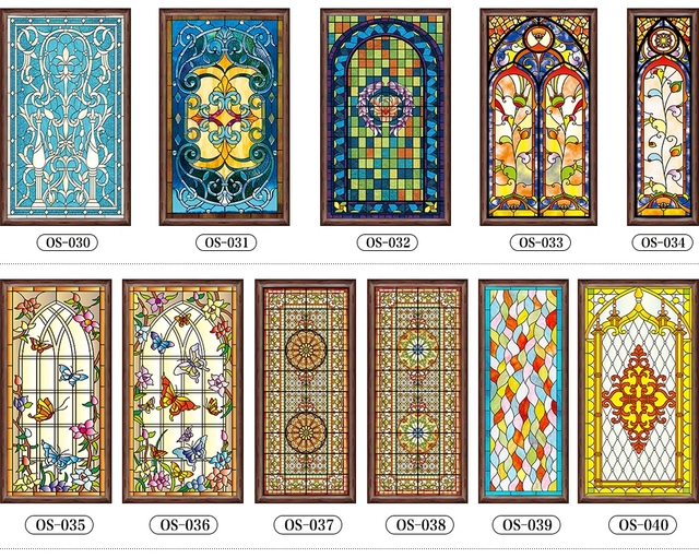 Custom stained glass stickers for windows church home foil stickers self adhesive window film stained
