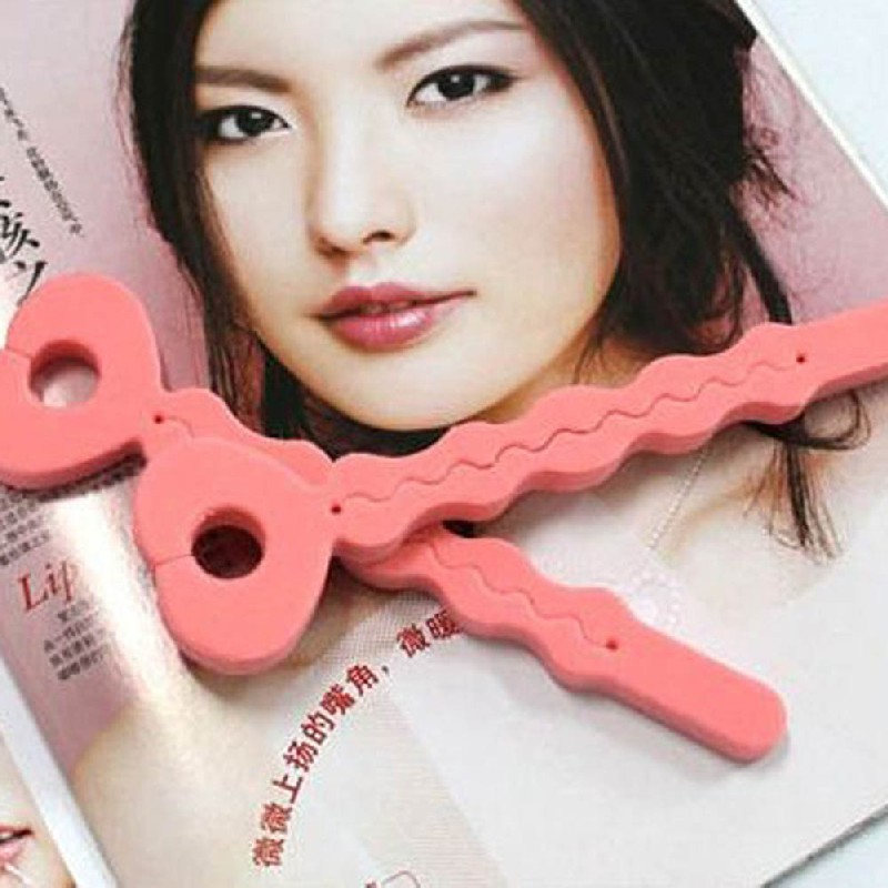 New Fashion 6Pcs Pink Soft Hair Curler Sponge Spiral Curls Roller DIY Salon Tool maquiagem Beauty