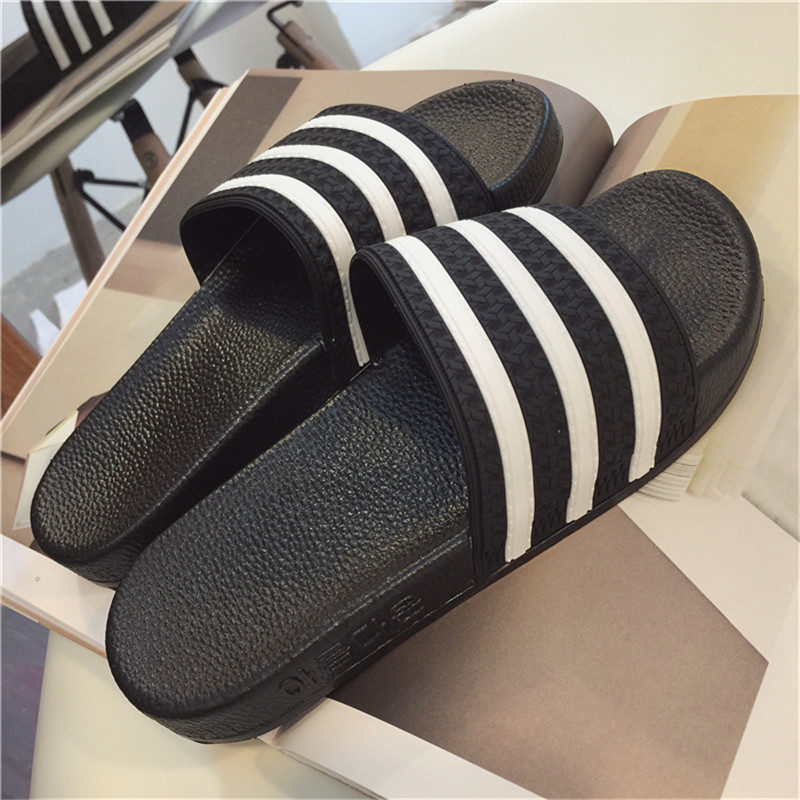 New Unisex New Fashion Men Shoes Summer Slippers Beach Men Slippers Women Casual Slippers Lovers Three Stripe Outdoor Slipper