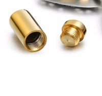 Cremation Charms 13mm*6mm Golden Small Cylinder Urn MIni Ashes Keepsake Cremation Jewelry For Personalized Engraving