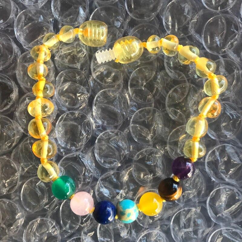 bb6eae9ec494 Yoowei 100% collar de pulsera de ámbar Natural para bebés adultos  certificado autenticidad ...