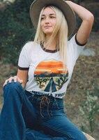 Женская летняя футболка с круглым вырезом и круглым вырезом, с изображением дерева Джошуа, с круглым вырезом, в винтажном стиле, Ropa de Mujer De ...