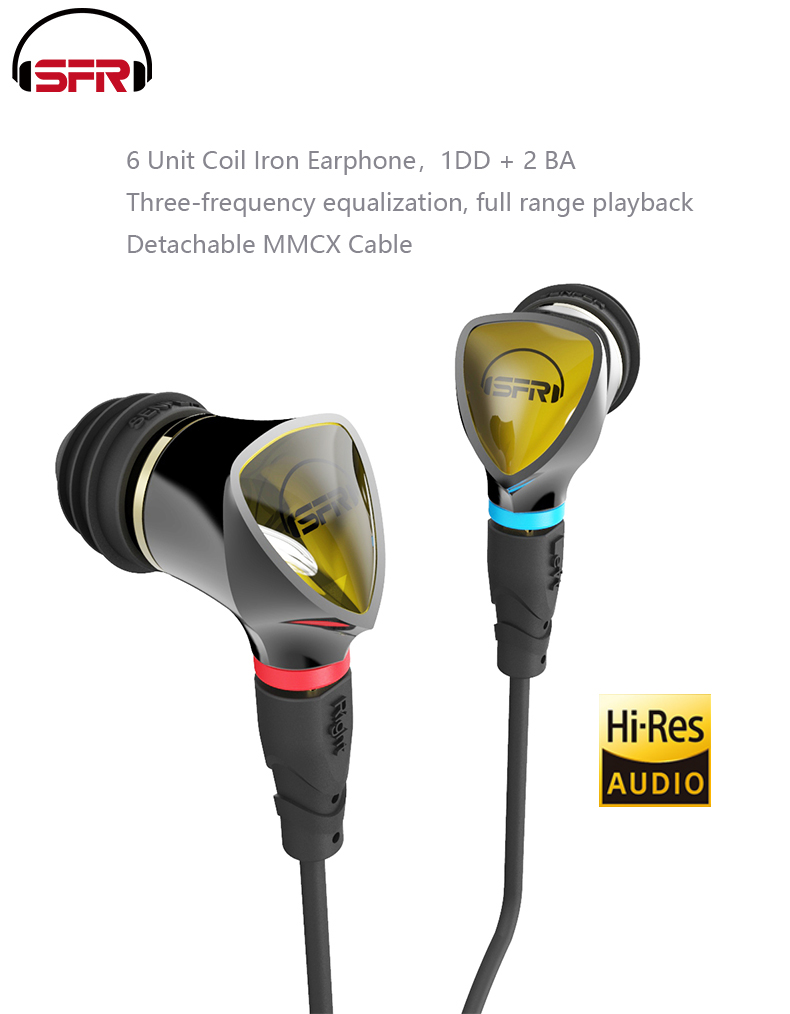 PIZEN new SENFER 4in1 HIFI Earphones Hybrid Drive Unit DIY earphones knowles balanced armature with MMCX cable se215 se535 se846