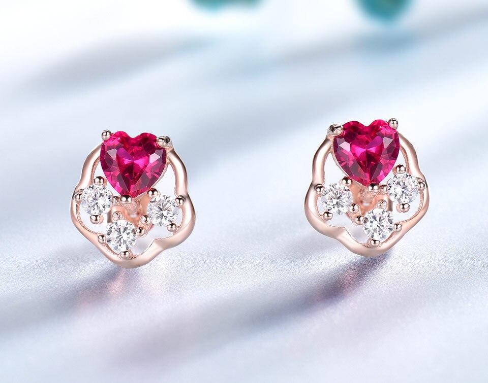 UMCHO-Ruby-925-sterling-silver-stud-earrings-for-women-EUJ076R-3-PC_03