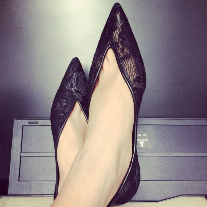 2017New Fashion Designer Lady Shoes Spring&Autumn Loafers Slip On Designer Lace Cozy Shallow Pointed Toe Flats Shoes Women Flats 2017 summer new fashion sexy lace ladies flats shoes womens pointed toe shallow flats shoes black slip on casual loafers t033109