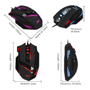 Image 3 - Wired Gaming Mouse 7 Button 7200 DPI LED Optical USB Computer Mouse Gamer Mice Game Mouse  For PC laptop  ergonomic mouse