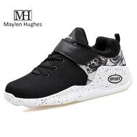MH New Design Summer Black Men S Flat Shoes Casual Mesh Breathable Hook Loop Outdoor Men