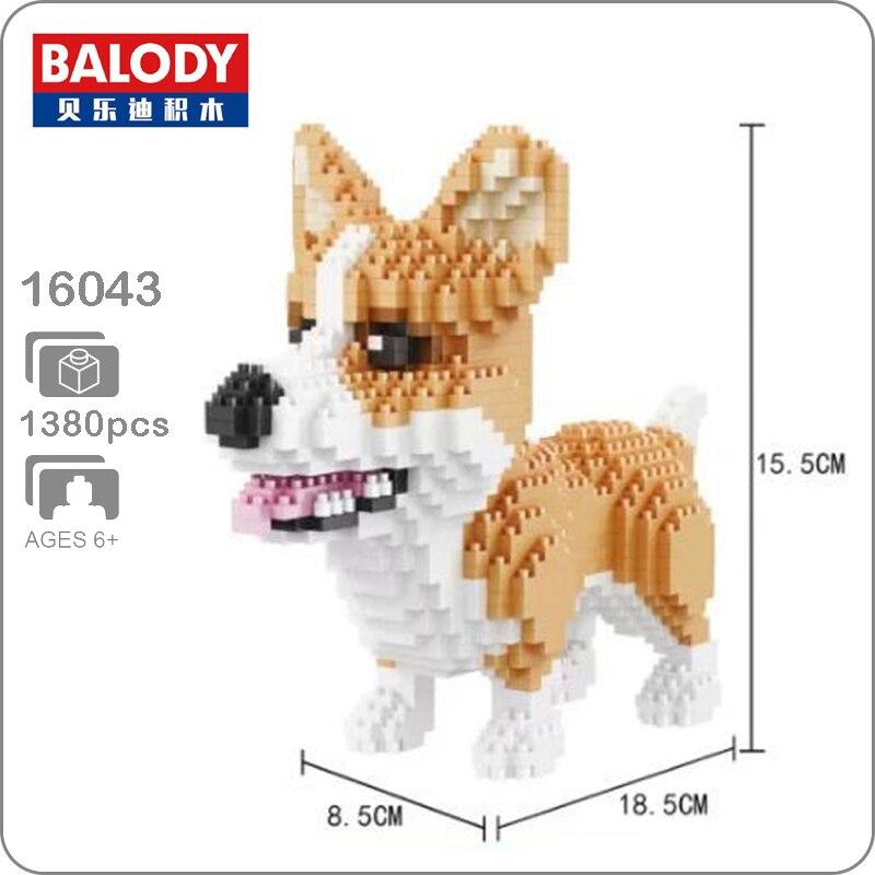 2100pcs Mini Building Bricks Blocks Diamond Dachshund Dog Nano Block Toys Gift