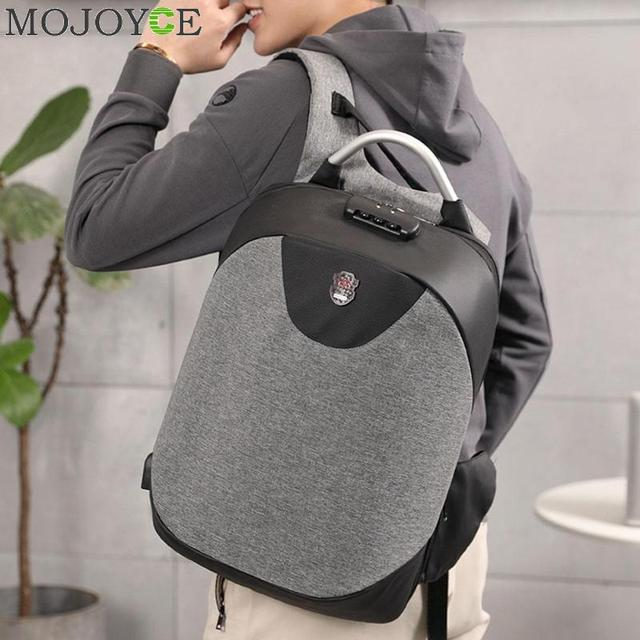 da78fe97134 15.6 Inch Laptop Anti-theft Men Backpack With USB Charging Headphone  Interface Port Lock Business Waterproof For Work Women