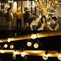 1x G40 Navidad Luces, globo Cadena 25LED Bombilla de Luz Al Aire Libre Luces Decorativas de Cuerda para el Jardín, Patios, Decoración Del Hogar, boda