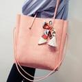Moda 2016 das Mulheres Bolsa de Ombro Senhoras Sacola Grande Saco do Desenhador Bolsa Tote Ocasional Saco de Compras Saco de Composto