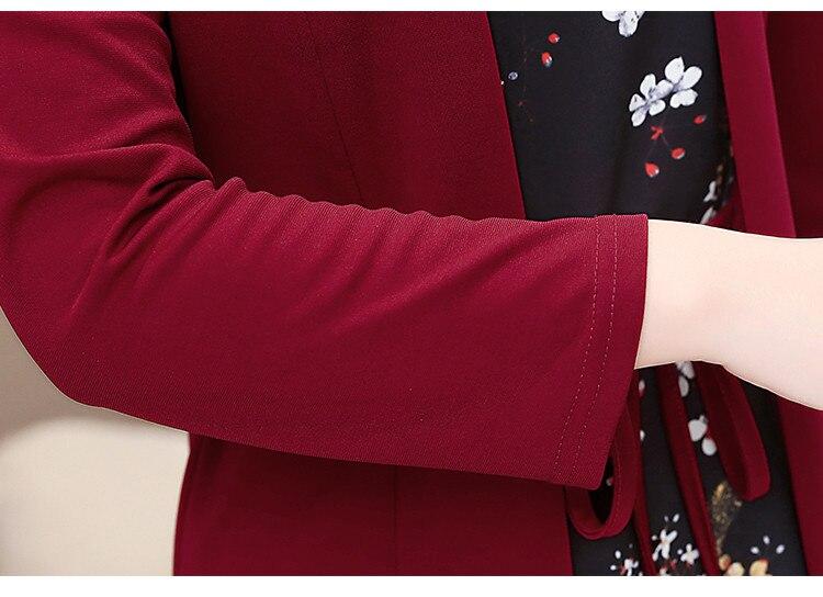 Women casual knee-length dress plus size arrival short sleeve printing autumn dress for offical lady Women loose elegant dress 103