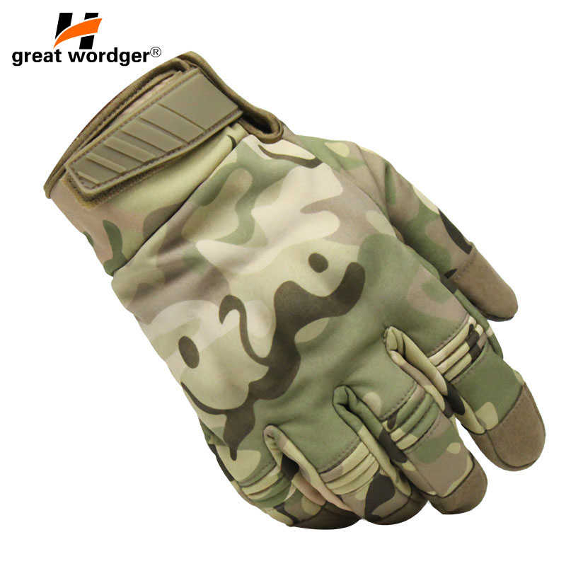 Outdoor New Camouflage Tactical Gloves Army waterproof Paintball Shooting Military Gloves Airsoft Anti Skid Full Finger